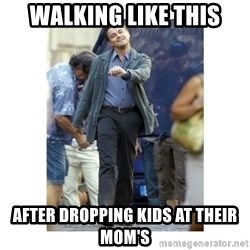 Leonardo DiCaprio Walking - Walking like this After dropping kids at their mom's
