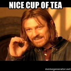 Does not simply walk into mordor Boromir  - nice cup of tea