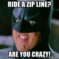 Goddamn Batman - Ride a zip line? Are you crazy!