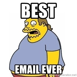 Comic Book Guy Worst Ever - Best Email ever