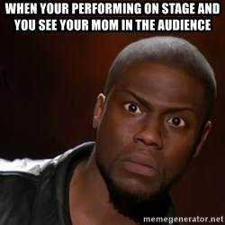 kevin hart nigga - When your performing on stage and you see your mom in the audience