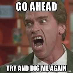 Arnold - go ahead try and dig me again