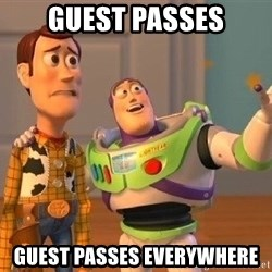 Consequences Toy Story - Guest Passes Guest Passes Everywhere
