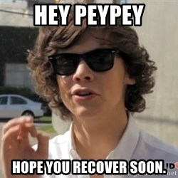 One Does Not Simply Harry S. - Hey peypey Hope you recover soon.
