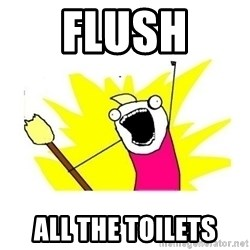 clean all the things blank template - flush  all the toilets