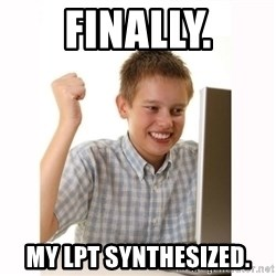 Computer kid - FINALLY. MY LPT SYNTHESIZED.