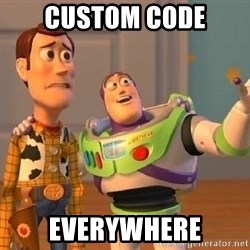 Consequences Toy Story - Custom Code EVerywhere
