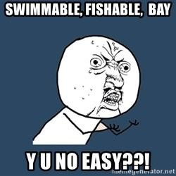 Y U No - SWIMMABLE, Fishable,  Bay Y U NO EASY??!