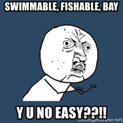 Y U No - Swimmable, Fishable, Bay Y U No Easy??!!