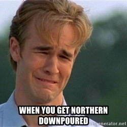 Crying Man -  When you get Northern downpoured