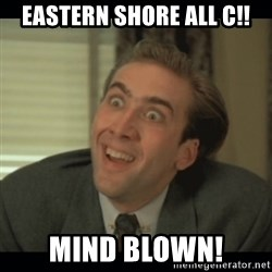 Nick Cage - eAstern shore all c!! Mind blown!