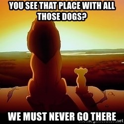 simba mufasa - You see that place with all those dogs? We must never go there