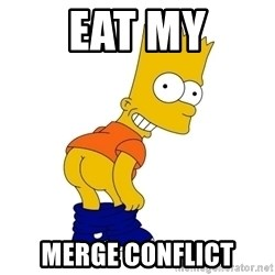 Barthes Simpson - eat my merge conflict