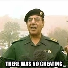 Baghdad Bob -  THERE WAS NO CHEATING
