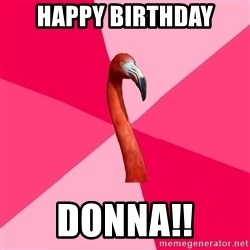 Fanfic Flamingo - Happy birthday donna!!
