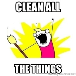 clean all the things blank template - Clean all The things