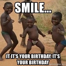 Dancing african boy - Smile... It it's your birthday, it's your birthday