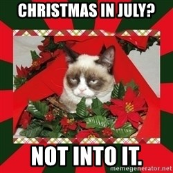 GRUMPY CAT ON CHRISTMAS - Christmas in July? Not into it.