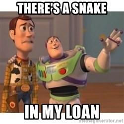 Toy story - There's a snake in my loan