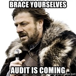 Brace yourself - brace yourselves audit is coming