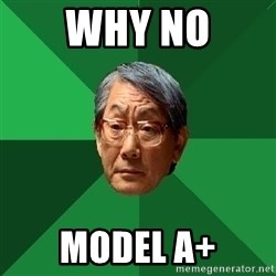 High Expectations Asian Father - why no model a+