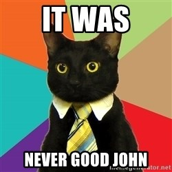Business Cat - It was Never good john