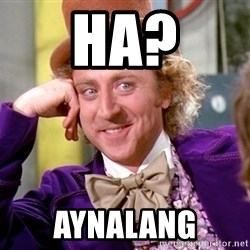 Willy Wonka - ha? aynalang