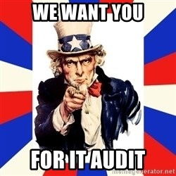 uncle sam i want you - We WANt YOU FOR IT AUDIT