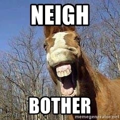 Horse - neigh bother