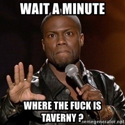 Kevin Hart - wait a minute where the fuck is taverny ?