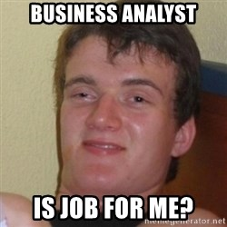 Stoner Stanley - Business analyst is job for me?