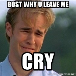 Crying Man - bost why u leave me CRY
