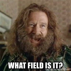 What Year -  What field is it?