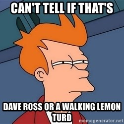 Futurama Fry - Can't tell if that's Dave Ross or A WALKING LEMON TURD