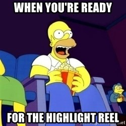 Homer Simpson Popcorn - when you're ready for the highlight reel