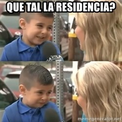 Reporter makes little boy cry. - Que tal la Residencia?