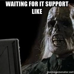 OP will surely deliver skeleton - Waiting for IT support like