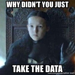 Lyanna Mormont Bear Island - why didn't you just take the data