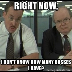 Office space - Right now, I don't know how many bosses i have?