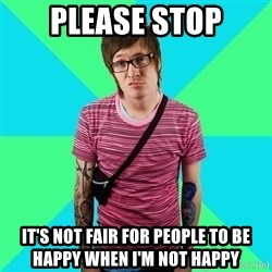 Disingenuous Liberal - please stop it's not fair for people to be happy when i'm not happy