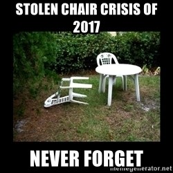 Lawn Chair Blown Over - Stolen chair crisis of 2017 never forget