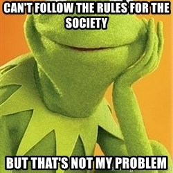 Kermit the frog - Can't follow the rules for the society But that's not my problem