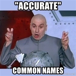 "Dr Evil meme - ""ACCURATE"" COMMON NAMES"