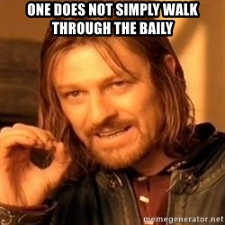 One Does Not Simply - One does not simply walk through the baily