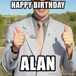 borat - Happy Birthday Alan