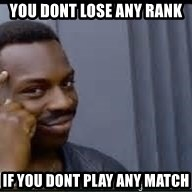 Pretty smart - You dont lose any rank If you dont play any match