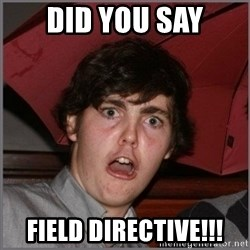 Shocked Dylan - DID YOU SAY FIELD DIRECTIVE!!!
