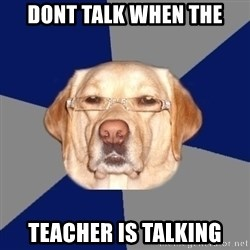 Racist Dog - Dont talk when the teacher is talking
