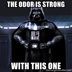 Darth Vader - The odor is strong With this one