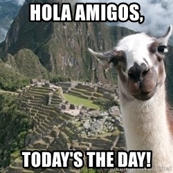 Bossy the Llama - Hola Amigos, Today's the Day!